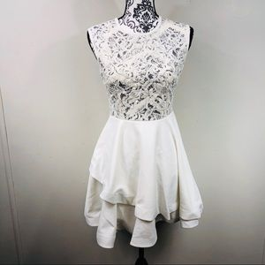 Beautiful white tiered lace top dress